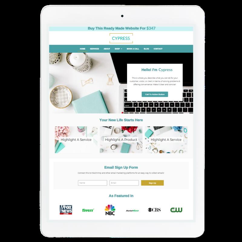 Aspen Website Template in Blue
