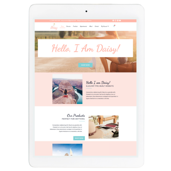Daisy Website Template in Pink