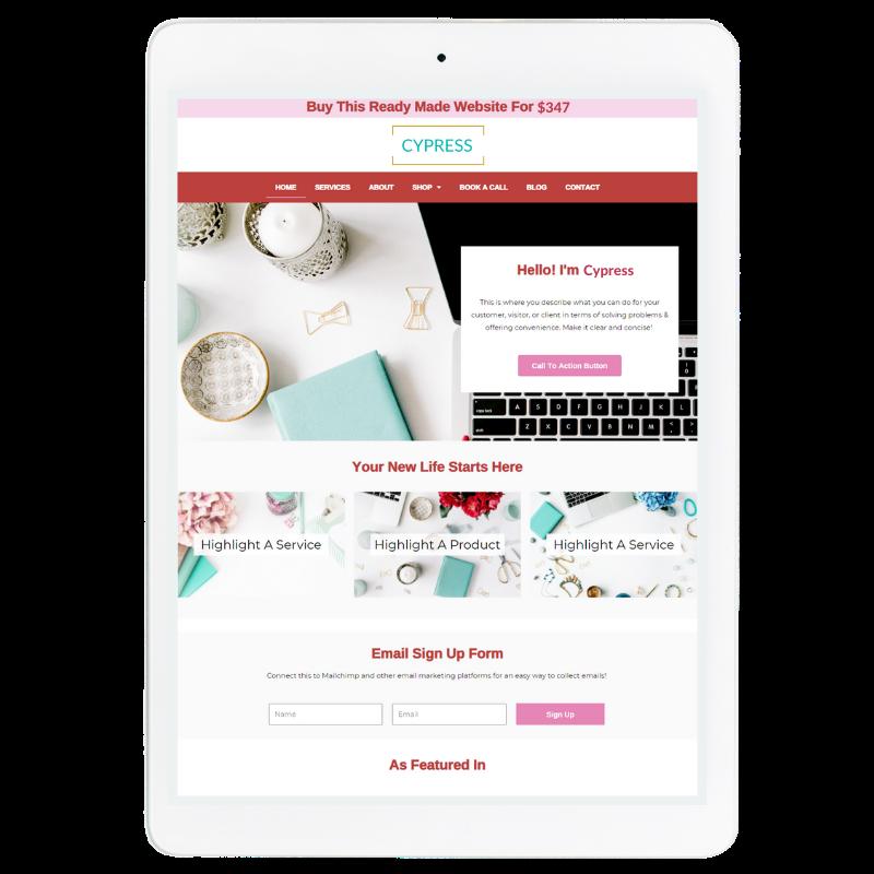 Aspen Website Template in Red