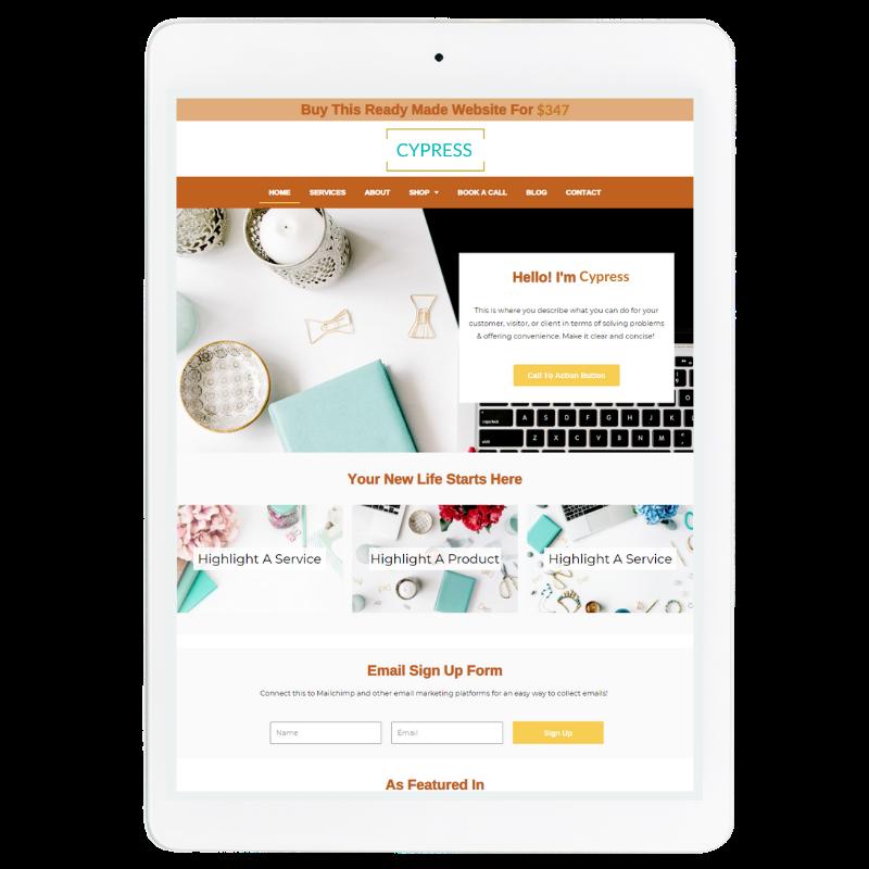 Aspen Website Template in Orange