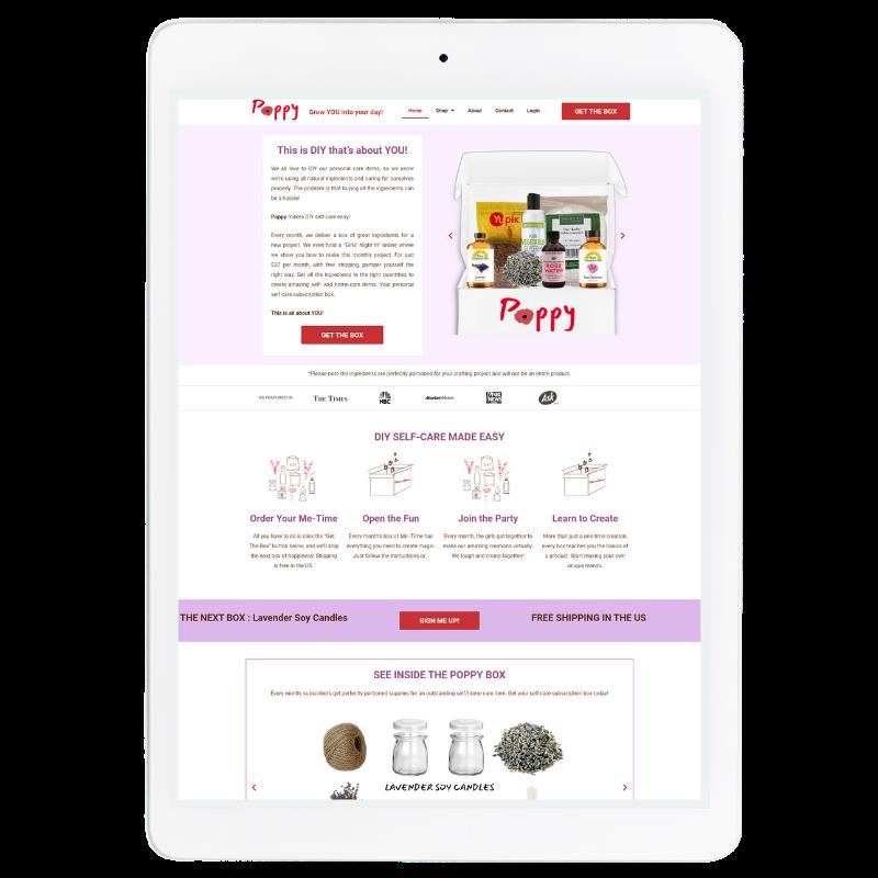 Poppy Website Template in Purple