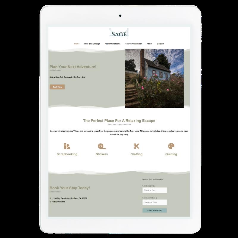 Sage Website Template in Green