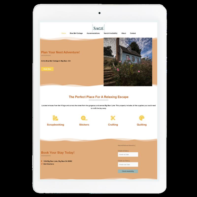Sage Website Template in Orange