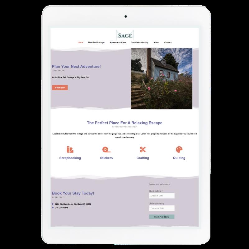 Sage Website Template in Purple