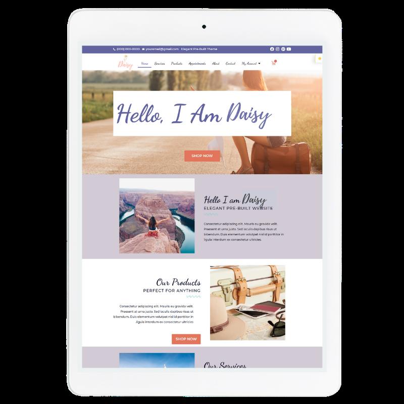 Daisy Website Template in Purple