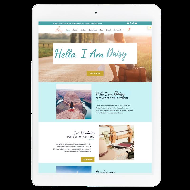 Daisy Website Template in Blue