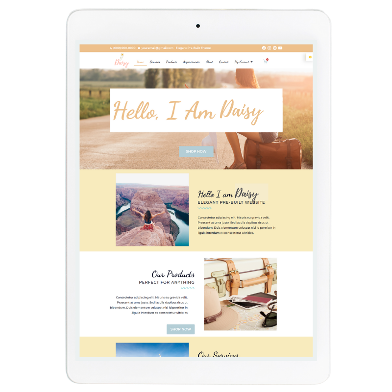 Daisy Website Template in Yellow