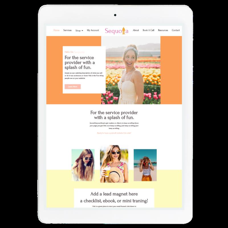 Sequoia Website Template in Orange