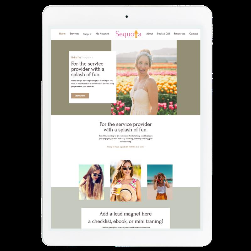 Sequoia Website Template in Green
