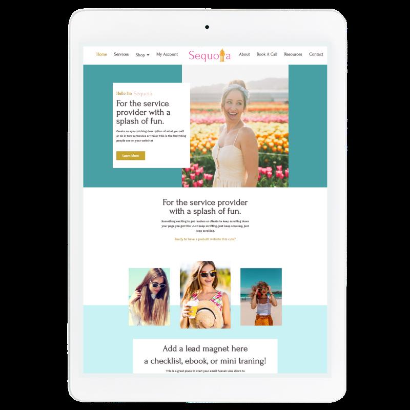 Sequoia Website Template in Blue