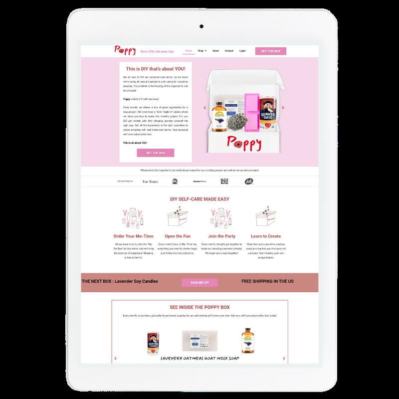 Poppy Website Template in Red