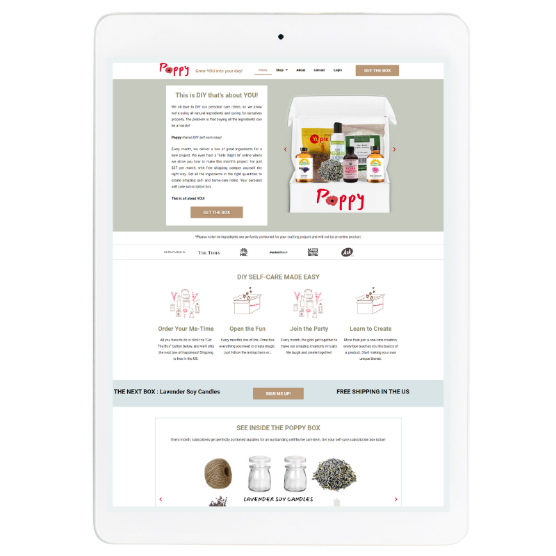 Poppy Website Template in Green
