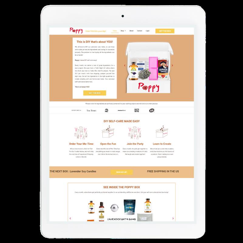 Poppy Website Template in Orange