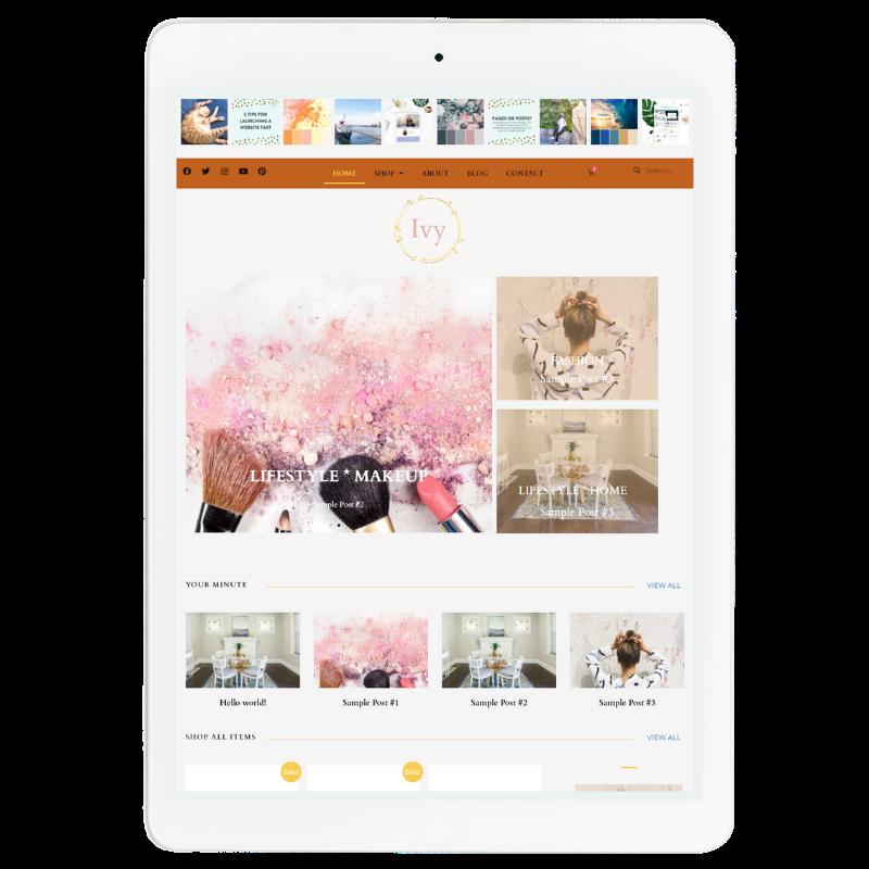 Ivy Website Template in Orange